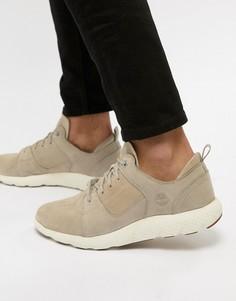 Светло-бежевые замшевые кроссовки Timberland Flyroam - Светло-бежевый