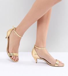 Босоножки на каблуке ASOS DESIGN - Золотой
