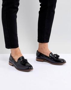 Кожаные туфли на плоской подошве с кисточками H By Hudson - Черный