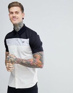 Черная рубашка колор блок с короткими рукавами Fred Perry - Черный