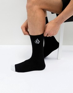 Черные носки с логотипом Volcom - Черный
