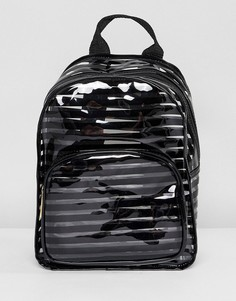 Пластиковый рюкзак в черную полоску Yoki Fashion - Черный