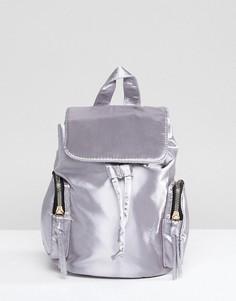 Мини-рюкзак с двумя карманами Yoki Fashion - Серый