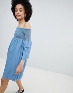 Свободное джинсовое платье Only - Синий