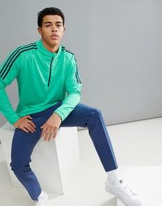 Зеленый свитшот на молнии adidas Golf CF7623 - Зеленый