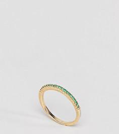 Кольцо с изумрудным паве и покрытием из 18 каратного золота Shashi - Золотой