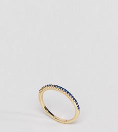 Кольцо с сапфировым паве и покрытием из 18-каратного золота Shashi - Золотой