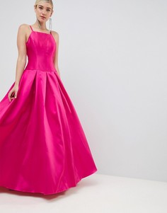 Платье макси для выпускного с квадратным вырезом Jovani - Розовый