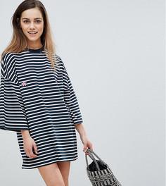 Платье-футболка в полоску Missguided Petite - Темно-синий