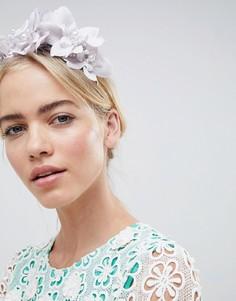 Повязка на голову с цветочным дизайном, стразами и жемчугом ASOS DESIGN - Фиолетовый