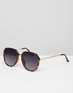 Солнцезащитные очки кошачий глаз в толстой оправе Jeepers Peepers - Коричневый