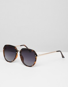 5b6e38f66a7a Солнцезащитные очки кошачий глаз в толстой оправе Jeepers Peepers -  Коричневый