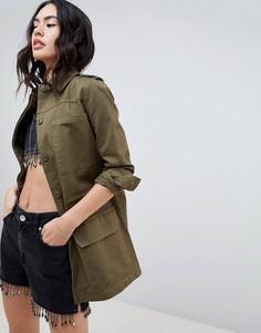 Куртка в стиле милитари Missguided - Зеленый