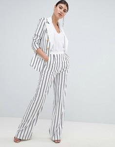 Широкие брюки в полоску Missguided - Белый