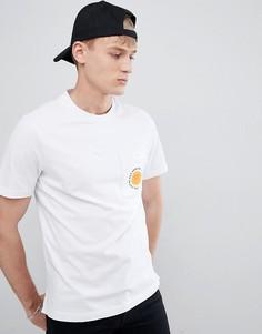 Белая футболка с принтом на кармане Farah Bahamas - Белый