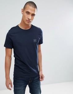 Темно-синяя футболка с логотипом BOSS Tales - Темно-синий