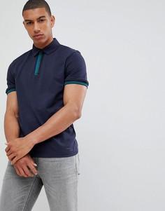 Темно-синяя футболка-поло BOSS Paxto - Темно-синий