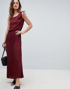 Платье макси с завязкой на талии Sisley - Красный