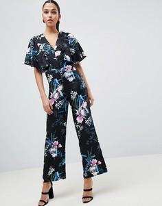 Комбинезон с рукавами-кимоно и принтом Lipsy - Мульти