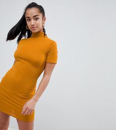 Облегающее платье в рубчик Missguided Petite - Золотой