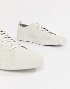 Белые кожаные кроссовки HUGO Zero - Белый