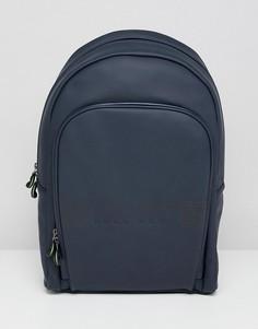 Темно-синий прорезиненный рюкзак BOSS Pixel R - Темно-синий