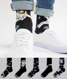 5 пар носков ASOS - Мульти