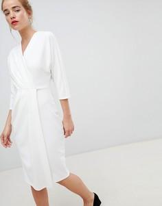 Белое плиссированное платье-футляр Closet London - Белый
