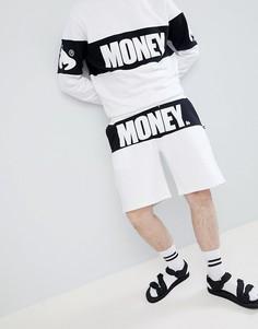 Белые шорты со вставкой Money - Белый