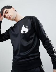 Черная футболка с круглым вырезом, полосками по бокам и принтом на спине Money - Черный