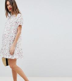 Платье мини с заниженной талией и цветочным принтом ASOS DESIGN Maternity - Мульти