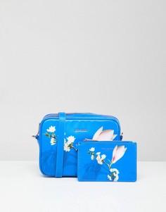 Сумка с покрытием и цветочным принтом Ted Baker - Синий