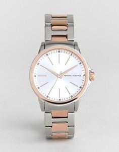 Часы с металлическим ремешком Armani Exchange AX4363 Banks - Серебряный