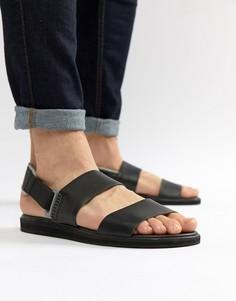 Черные кожаные сандалии Camper Spray - Черный