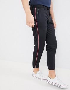 Черные брюки с полосками по бокам Burton Menswear - Черный