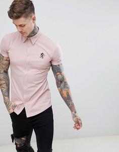 Розовая рубашка с короткими рукавами Gym King - Розовый