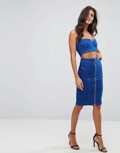Джинсовая юбка-карандаш Parisian - Синий