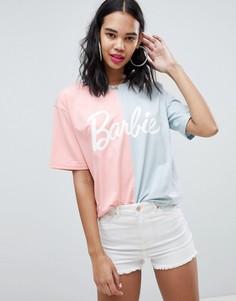 Двухцветная футболка Barbie Missguided - Мульти