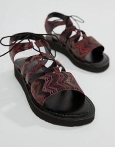 Кожаные сандалии-гладиаторы Vero Moda - Мульти