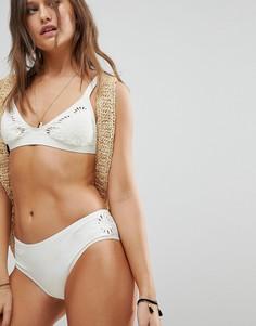 Плавки бикини с вышивкой Billabong - Белый