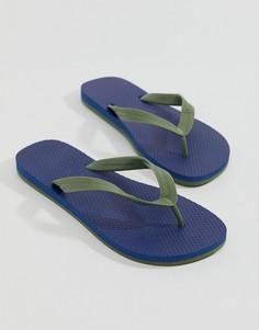 Синие шлепанцы United Colors of Benetton - Синий