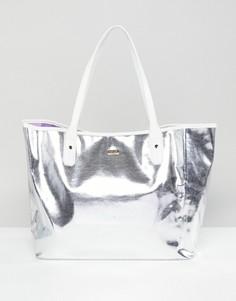 Серебристая сумка-тоут Ban.Do - Серебряный