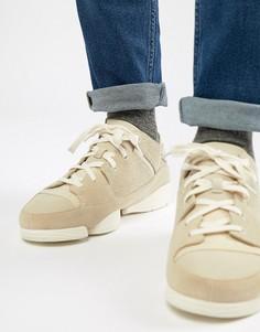 Замшевые кроссовки Clarks Originals Trigenic Evo - Белый