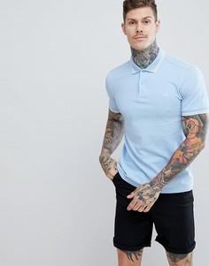 Голубая футболка-поло с контрастной отделкой Fred Perry Riviera - Синий