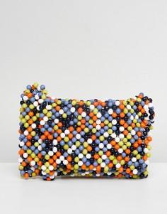 Разноцветная сумка через плечо с бисерной отделкой ASOS DESIGN - Мульти