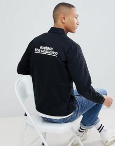 Куртка с принтом на спине Jack & Jones - Черный