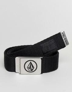Черный плетеный ремень Volcom - Черный