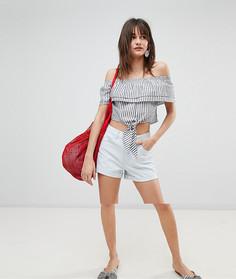 Джинсовые шорты с отворотами Vero Moda - Синий