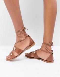 Кожаные сандалии гладиаторы Kurt Geiger Marci - Рыжий