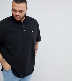 Черная футболка-поло пике с логотипом Lyle & Scott PLUS - Черный